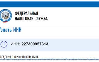 Как узнать ИНН по фамилии на сайте ФНС России