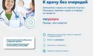 Как на сайте госуслуги оформить запись к врачу в поликлинику